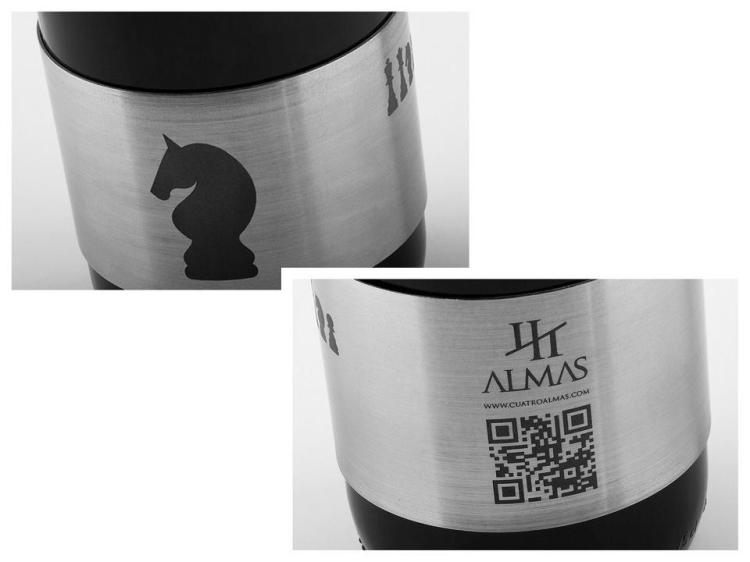 CuatroAlmas-Packaging-Acero Codigo QR- packandwine